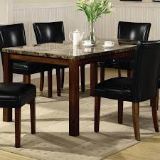 coaster telegraph rectangular dining table with faux marble top in medium brown buy dining room chairs