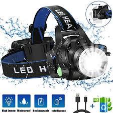 HOKEKI Headlamp, <b>USB Rechargeable</b> LED Head Lamp ...