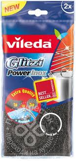 Купить <b>Губка</b> для мытья посуды <b>Vileda Glitzi</b> Power Inox 2шт с ...