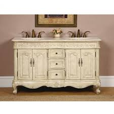 55 inch double sink bathroom vanity:  inch double sink bathroom vanity in antique white finish