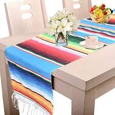 Amajoy 14 x 84 inch Mexican Serape Table Runner ... - Amazon.com