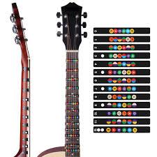 UMfun <b>Guitar Scale Stickers Sound</b> Name Stickers Self-study ...