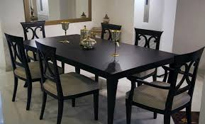 dining room magnificent black stained wooden dining table contemporary black wooden fabric base dining chair black wood dining room