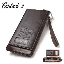 2019 Men Wallet Clutch <b>Genuine Leather Brand</b> Rfid Wallet Male ...
