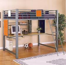 good metal loft bunk bed with staris and computer desk underneath casa kids good
