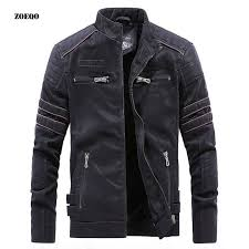 NEW FASHION Winter Jacket Men <b>Stand Collar Motorcycle Leather</b> ...