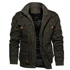 Jamickiki High Quality Military Casual <b>Padded</b> Woolen Winter <b>Jacket</b> ...