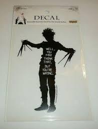 "Edward Scissorhands <b>Decal Sticker Silhouette Movie</b> Quote 6.5"" Tall ..."