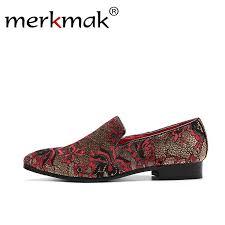 Merkmak Noble Black Rhinestone <b>Men's Loafers</b> Velvet <b>Crystal</b> ...