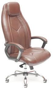 Купить кресло и <b>стул Tetchair Boss</b> Люкс, хром коричневый по ...