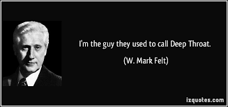 "Image result for Mark Felt, who under the name ""Deep Throat"""