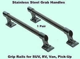 Car <b>Truck</b> Grab Handles (<b>1</b>- <b>Pair</b>) STAINLESS STEEL Grip Rails ...