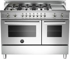 Gas Stainless Steel Cooktop Bertazzoni Pro486ggasx 48 Inch Pro Style Gas Range With 6 Sealed