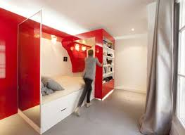 double bedroom sliding bookcase hides small home office bedroom small home office