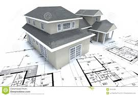 House On Architect Plans Royalty Free Stock Photo   Image  House on architect plans
