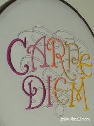 carpe diem embroidered hoop wall art carpe diem embroidery