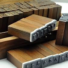 UCEC <b>70pcs</b> Alphabet Stamps Vintage Wooden Rubber Letter ...
