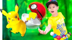 Покемоны Игрушки и <b>разноцветные</b> Покеболы. <b>Pokemons</b> in real ...