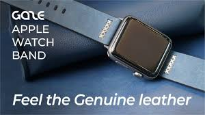 FEEL THE <b>GENUINE LEATHER</b> : GAZE Apple <b>Watch Band</b> - YouTube