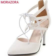 MORAZORA <b>2018</b> new arrive women pumps <b>top quality fashion</b> ...