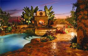full pool patio landscape design