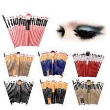 <b>20 pcs</b> Makeup Brush <b>Set</b> tools Make up Toiletry Kit Wool high ...