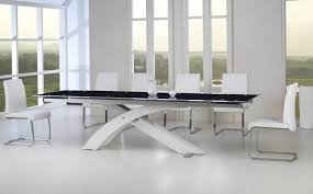 black and white dining table set: stunning dining room table and chairs white black color design