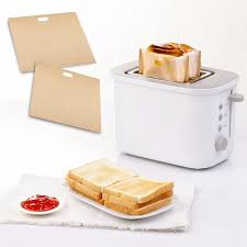 Portable Toaster Bags <b>Reusable Non-stick</b> Baked Toast Bread Bags ...