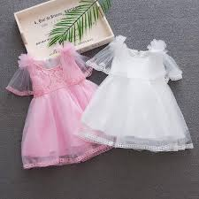 BOBORA <b>Summer New Girls</b> Flower Lace Princess Dress Kids <b>Puff</b> ...