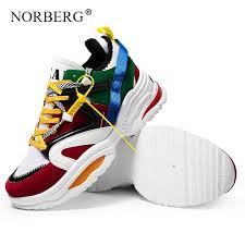 <b>NORBERG 2019 New</b> Woman Running Shoes 5CM Heel Fashion ...