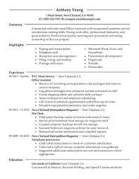 best office assistant resume example   livecareeroffice assistant resume example