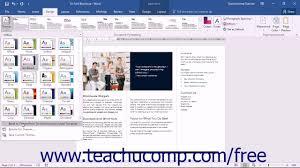 word 2016 tutorial applying a theme microsoft training word 2016 tutorial applying a theme microsoft training
