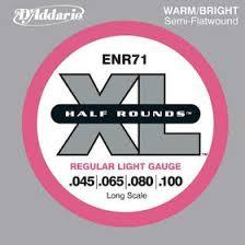 Комплект <b>струн</b> для бас-<b>гитары D'Addario ENR71</b> Half Rounds ...
