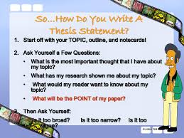 lisa simpson on thesis statements topic sentences writing lisa simpson on thesis statements topic sentences
