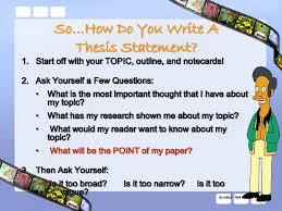 lisa simpson on thesis statements topic sentences writing lisa simpson on thesis statements topic sentences