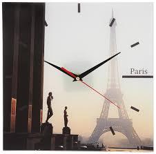 "<b>Часы настенные</b> ""Paris"", <b>стеклянные</b>, цвет: мульти. 95301 ..."