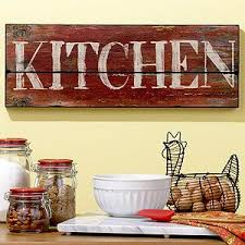 wood sign glass decor wooden kitchen wall: wooden quotkitchenquot sign i have that bowl maybe id like a kitchen sign in case there was any doubt cooking optional depends on the weather or
