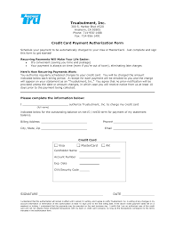 Recurring Payment Authorization Form-- ACH or