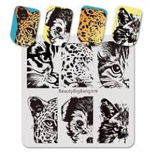 <b>BeautyBigBang 6*6cm</b> Square <b>Stamping Plate</b> Lion Tiger Dog Cat ...