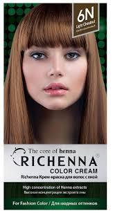 Richenna <b>Крем</b>-<b>краска для волос с</b> хной — купить по выгодной ...