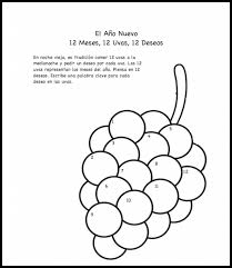 Spanish New Year – 12 Grapes Printable Activity and Coloring Page ...