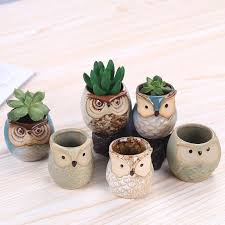 Set <b>6pcs</b> Owl Succulent Planters 8 reviews Regular price $26.95 ...