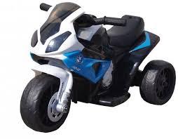 Детский <b>электромотоцикл BMW S1000RR</b> Blue (трицикл, 6V ...