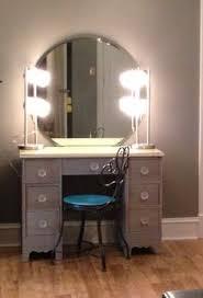 black walls desks and vanities on pinterest best lighting for makeup vanity