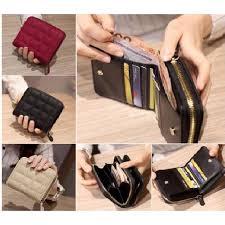<b>Korean Fashion Women</b> PU Leather Mini <b>Wallet</b> Card Key Holder ...