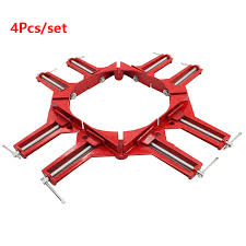 <b>4Pcs</b> 4inch Multifunction <b>90 degree Right</b> Angle Clip Picture Frame ...