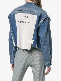 <b>SJYP джинсовая</b> куртка со вставкой с надписью | Куртка джинсы ...