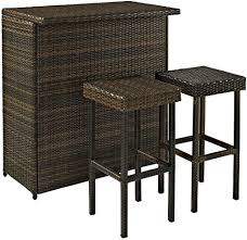 <b>3</b>-<b>Piece Bar Sets</b> for Outdoor Patio