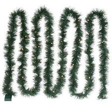 5.49m Pre-lit <b>LED</b> Green <b>Christmas garland</b> | Departments | DIY at ...