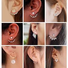 <b>Korean</b> Jewelry Zircon Pearl Heart <b>Crystal</b> Flower Angel Wings ...